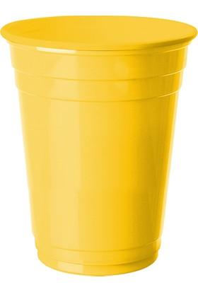 PartiBulutu Sarı Plastik Büyük Meşrubat Bardağı 8'li