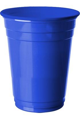 PartiBulutu Lacivert Plastik Büyük Meşrubat Bardağı 8'li