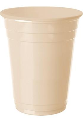 PartiBulutu Krem Plastik Büyük Meşrubat Bardağı 8'li