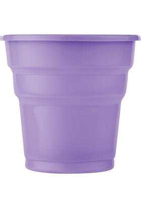 PartiBulutu Lila Plastik Meşrubat Bardağı 25'li