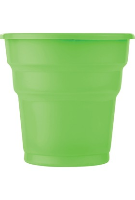 PartiBulutu Yeşil Plastik Meşrubat Bardağı 25'li
