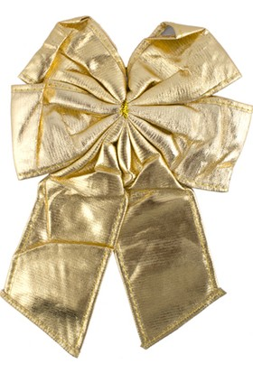 Yılbaşı Fiyonk Süs Altın 20*27 cm