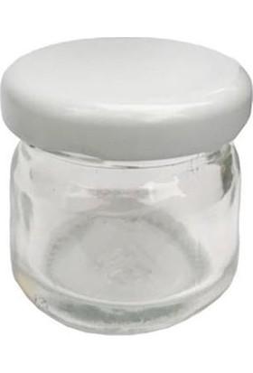 Beyaz Mini Cam Kavanoz