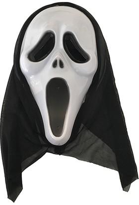 PartiBulutu Beyaz Çığlık Maske