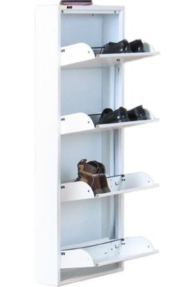 Kaser Metal Ayakkabılık Modelleri 4 Lü Kilitli Beyaz