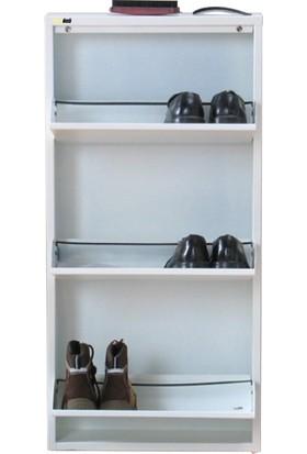 Kaser Metal Ayakkabılık Modelleri 3 Lü Beyaz