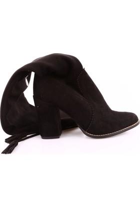 Cudo 02 Kadın Topuklu Thigh High Stretch Çizme