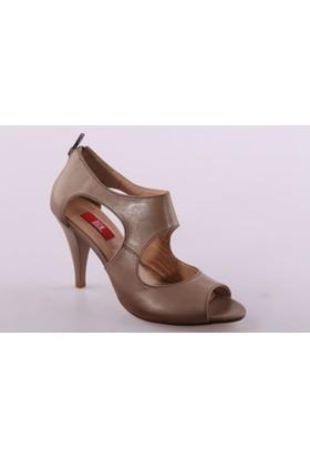 Dgn 1225 Kadın Dekolteli Topuklu Ayakkabı