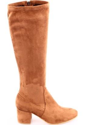 Dgn 090 Kadın Topuklu Knee High Stretch Çizme