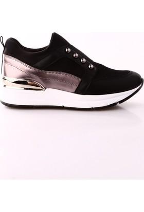 Dgn 3054 Kadın Sneakers Dolgu Taban Spor Ayakkabı