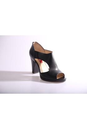Dgn 314 Kadın Topuklu Yanı Dekolte Ayakkabı