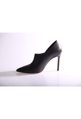 Dgn 4874 Kadın Sivri Burun Yanı Dekolte Topuklu Ayakkabı