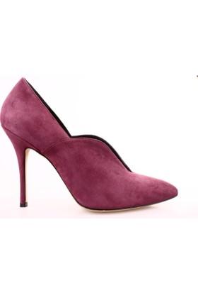 Dgn 4769 Kadın Sivri Burun Önü Dekolte Topuklu Ayakkabı