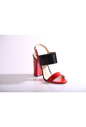 Dgn 3344 Kadın Kalın Topuklu Dekolte Ayakkabı