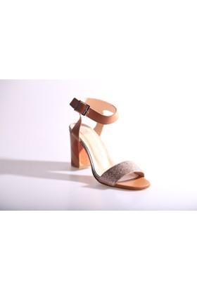Dgn 1101 Kadın Bilekten Bağlı Topuklu Sandalet