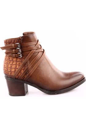 Dgn 2525-14 Kadın Çapraz Bant Topuklu Bot