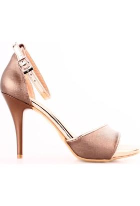 Dgn 101 Kadın Bilekten Bağlı Abiye Ayakkabı