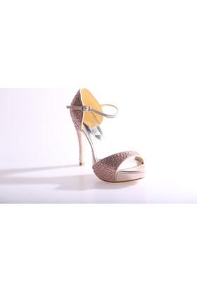 Dgn 4656 Kadın Abiye Ayakkabı