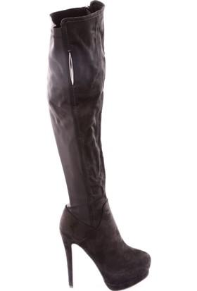 Guja 17K95-3 Kadın Gizli Platform Arkası Thigh High Stretch Çizme