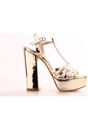 Isabel 3105 Kadın T Bant Platform Ayakkabı
