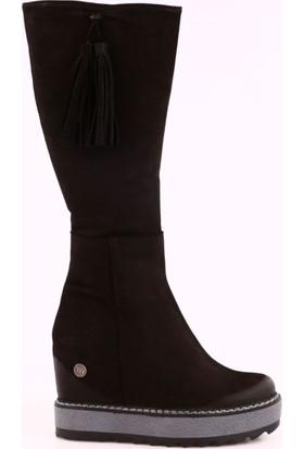 Mammamia D17Kb-2100 Kadın Gizli Topuk Yüksek Taban Knee High Çizme