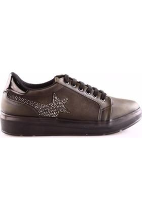 Ony 6116 Kadın Yanı Yıldızlı Sneakers Spor Ayakkabı