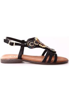 Ony 6040 Kadın Boncuklu Sandalet