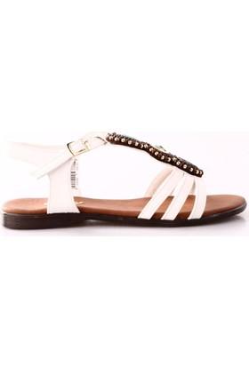 Ony 6008 Kadın Boncuklu Sandalet