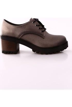Park Moda K106 Kadın Kalın Topuk Bağcıklı Oxford Ayakkabı