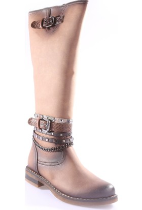 Sms 2362 Kadın Aksesuarlı Knee High Çizme