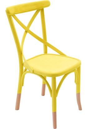 Thonet Sandalye Sarı&Natural