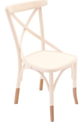 Thonet Sandalye Beyaz&Natural