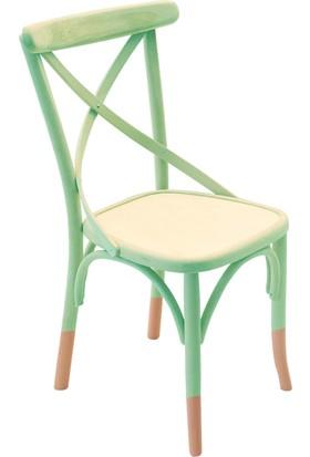Thonet Sandalye Yeşil&Natural