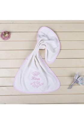MirDesign Taçlı İsme Özel Kız Bebek Baş - El Havlusu