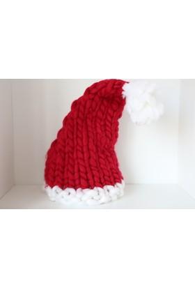 Yılbaşı Örme Noel Baba Şapkası
