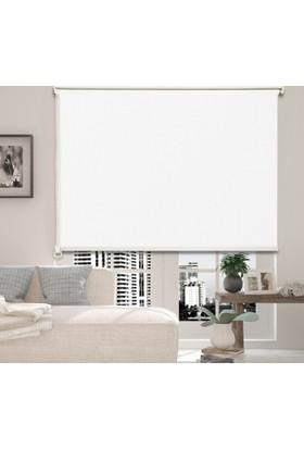 Stordukkani Beyaz Mat Polyester Stor Perde - MT-01