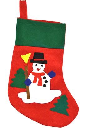 Yılbaşı Kardan Adam Hediye Çorabı