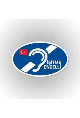 Otografik - İşitme Engelli Arma Oto Sticker 12 cm x 7 cm