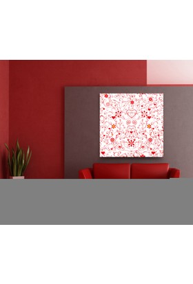 Evdeka Kalpli Çiçek Desenli Kanvas Tablo