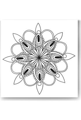 Evdeka Çiçek-8 Desenli Mandala Kanvas Tablo