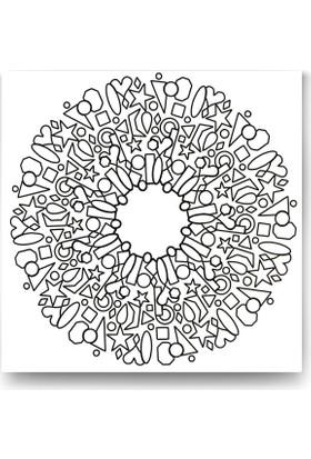 Evdeka Geometrik Şekiller Desenli Mandala Kanvas Tablo