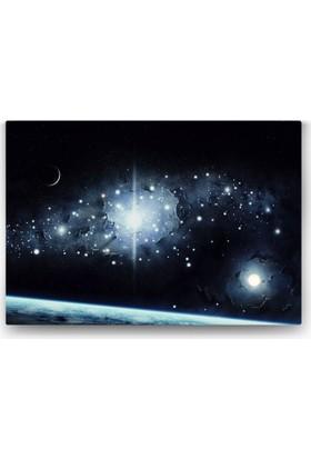 Evdeka Galaksi Temalı Kanvas Tablo