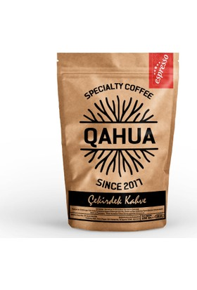 Qahua Espresso Çekirdek Kahve 250 Gr