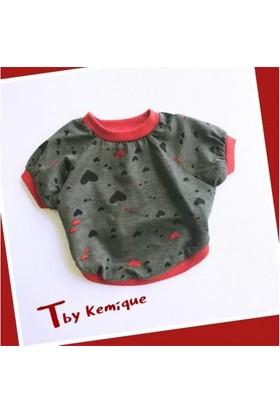 Kemique Mini Hearts Oval Yaka Tişört T By Kemique Kedi Kıyafeti Kedi Elbisesi