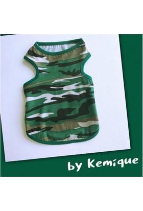 Kemique Kamuflaj Yeşil Atlet By Kemique Kedi Kıyafeti - Kedi Elbisesi