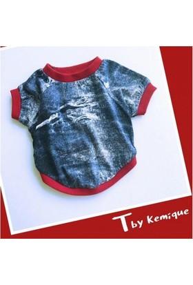 Kemique Mavi 3D Denım Oval Yaka Tişört T By Kemique Kedi Kıyafeti Kedi Elbisesi