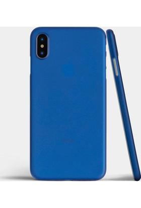 Case 4U Apple iPhone X Kılıf Ultra İnce 0.2mm Kapak Mavi
