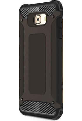 Kny Samsung Galaxy C7 Pro Kılıf Ultra Korumalı Çift Katmanlı Armour Case+ Cam