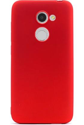 Gpack Alcatel İdol A3 Kılıf Premier Silikon Kılıf Kırmızı + Cam