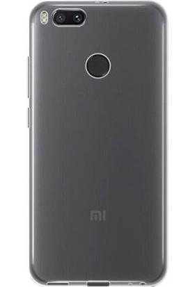 Gpack Xiaomi Mi5X Kılıf 02 Mm İnce Silikon Kılıf Şeffaf + Cam